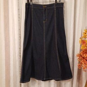 Riders Copper Jean Skirt, 13m/Xl